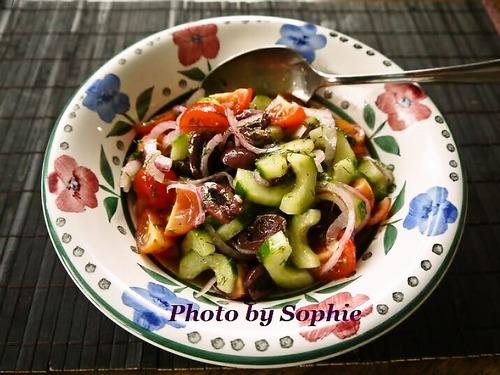 きゅうりのサラダ・ギリシャ風