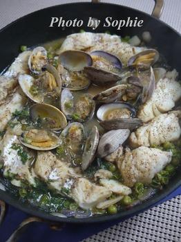 タラとアサリのスペイン料理