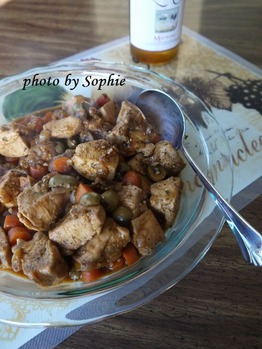 モロッコ風チキン・オリーブ風味