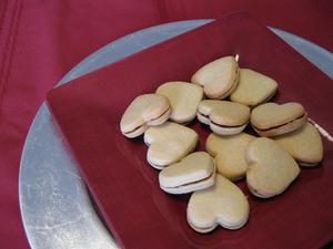 ハート型ジャムサンドイッチクッキー