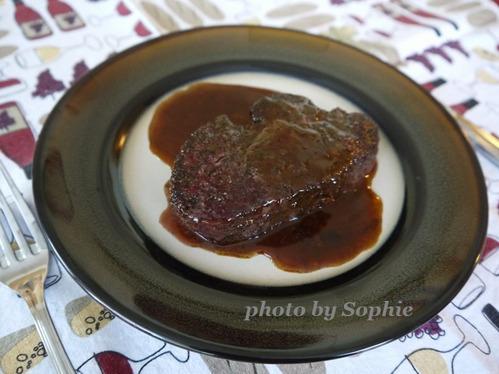ビーフステーキのポアブルソース