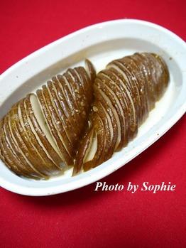 西洋梨の白ワイン蜂蜜煮