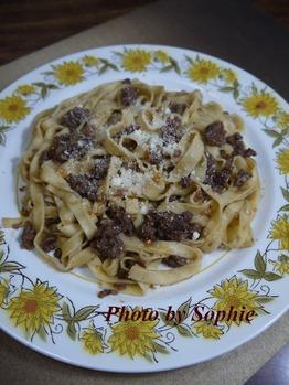 タリアテッレのボロネーズソース