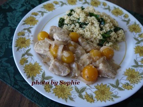 鶏肉とプチトマトのソテー