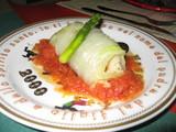 おからのロール白菜・トマトソース