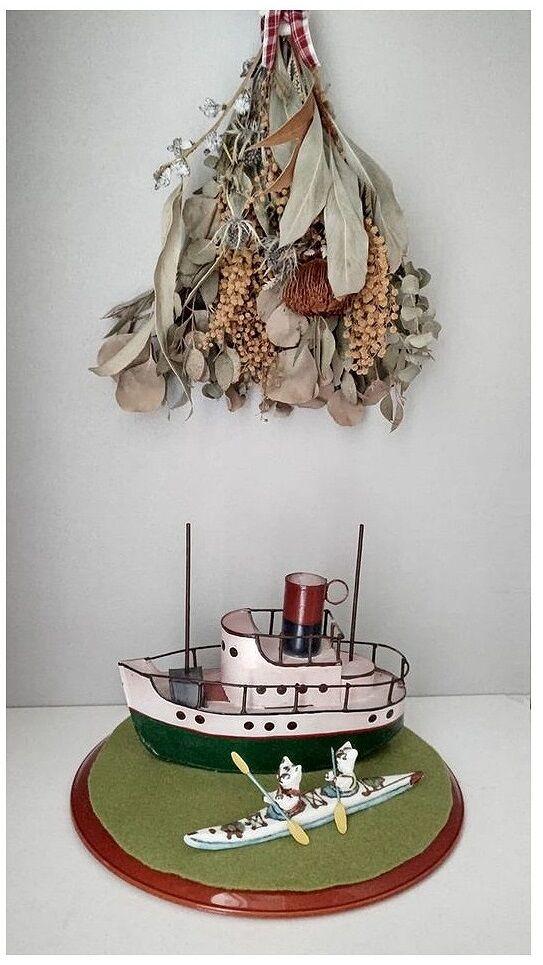 船とカヤック