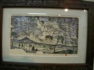 「風の又三郎」版画(佐藤国男)