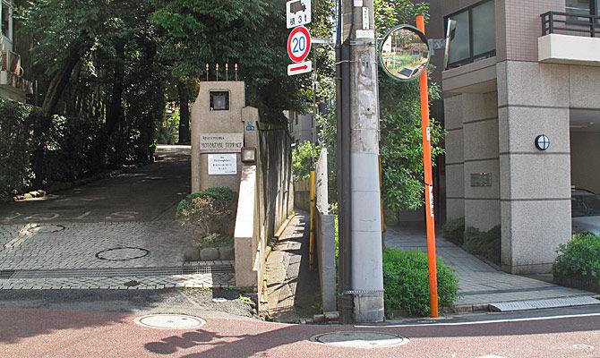 渋谷川(古川)に注いでいた小川の痕跡