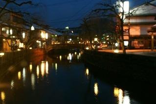 城崎温泉の中心 夜