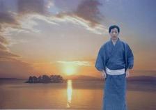 夕陽の宍道湖02