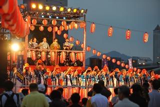 神戸港盆踊り=22012