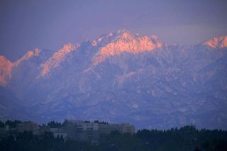 1夕日の立山