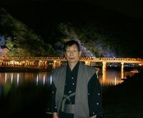 渡月橋ライトアップ01拝啓