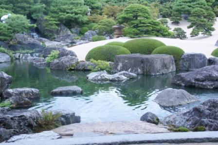 足立美術館水辺の庭