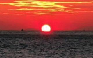 明石海峡の夕陽20