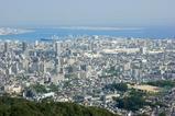 高取山から神戸空港を望む