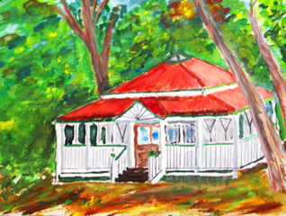 赤い屋根の家13