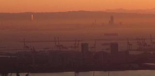 高取山山頂の朝日