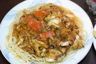 ワタリガニのスパゲッティー 319