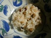 保温5時間の豆ご飯