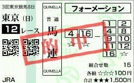 0623東京12馬連