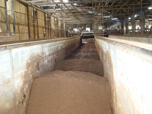 堆肥発酵途中