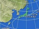 台風3号の軌跡