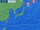 8日3時の天気図