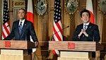 共同記者会見する安倍総理とオバマ大統領