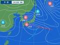 28日午前9時の天気図