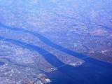 揖斐川木曽川長良川河口の様子