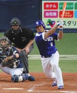 5回、平田選手のタイムリー