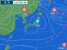 11月13日6時の天気図