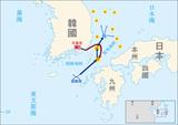 日本海海戦での日露両軍の動き