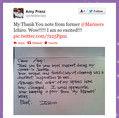 Amy宛のイチローの手紙
