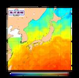 昨年の海水温図