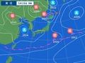 25日午前9時の天気図