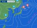 31日午前6時の天気図