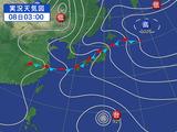 梅雨全線が停滞している日本列島