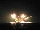 秋刀魚船の集魚漁