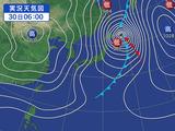 熱帯低気圧に変わった台風22号