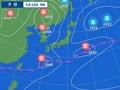 24日9時の予想天気図