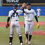 北海道東海大を8回3安打無失点に抑えた立大田中投手