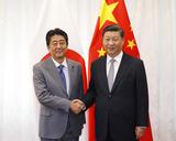 日中首脳会談での安倍総理と習近主席