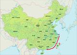 中国の主な採捕地