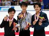 全日本フィギア表彰台の3人