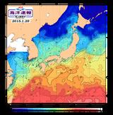 1月29日の海水温図