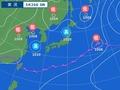 26日午前6時の天気図