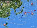 12月27日午前9時の天気図予想