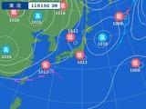 19日午前3時の天気図
